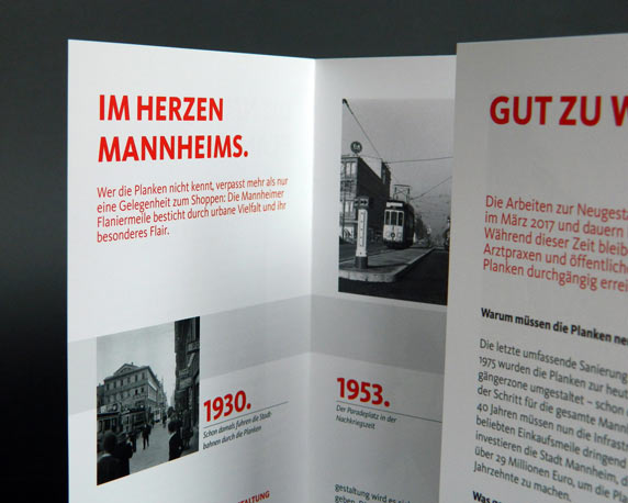 Stadtmarketing Mannheim, Plankenumbau, Informationsfolder
