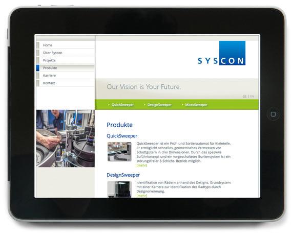 Syscon, Website