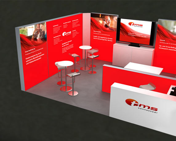 tms connected!, Corporate Design Relaunch, Messestand, eWorld
