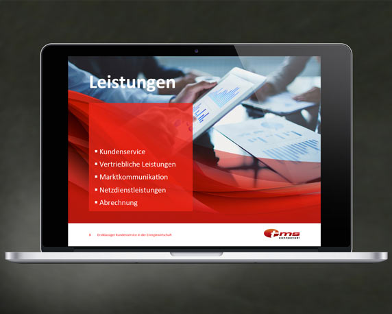 tms connected!, Corporate Design Relaunch, Powerpoint-Präsentation