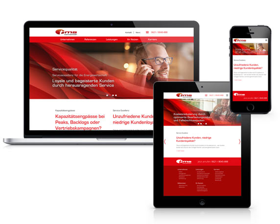 tms connected!, Website, Corporate Design Relaunch