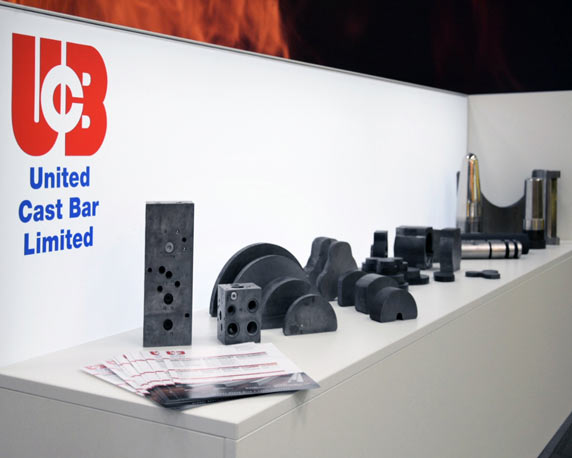 United Cast Bar Group, UCB, Messestand, Hannover, Exponate