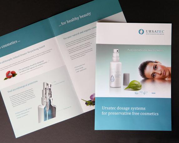 Ursatec, Dosiersysteme, Pure Cosmetics, Produktfolder