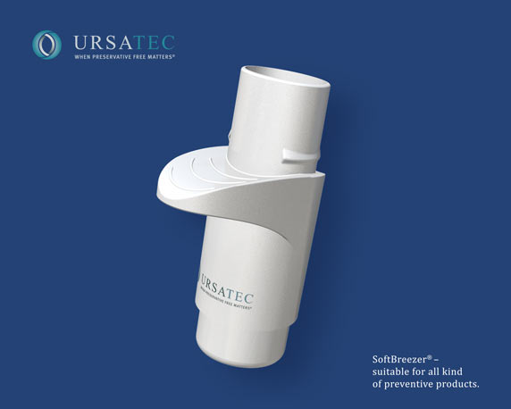 Ursatec, SoftBreezer®, Inhalationssystem, Nebulizer, 3D-Animation