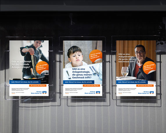 VR Bank Rhein-Neckar, Plakate, Mailing, Kampagne