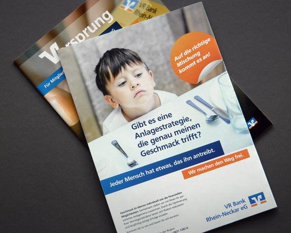 VR Bank Rhein-Neckar, Anzeigen, Kampagne, Vermögensstrukturoptimierung, Werbeagentur magenta, Mannheim