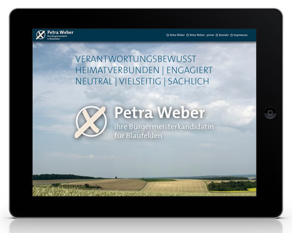 Petra Weber, Website, One-Pager