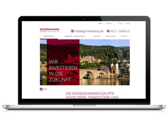 Weidenhammer Gruppe, Website, Heidelberg, Werbeagentur magenta, Mannheim