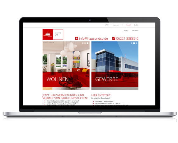 Weidenhammer Gruppe, Haus+Co, Schütte Lanz Park, Projekt, Website, Heidelberg