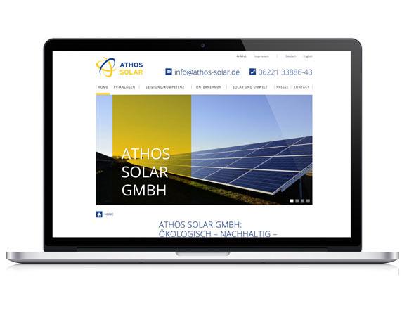 Weidenhammer Gruppe, Athos Solar, Tochterunternehmen, Website, Heidelberg