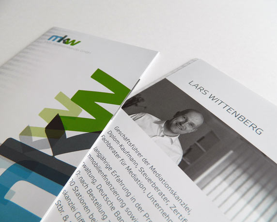 mkw Mediationskanzlei, Corporate Design, Folder