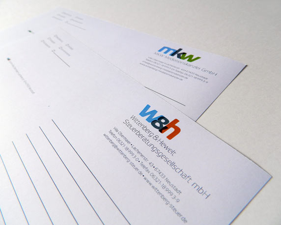 mkw Mediationskanzlei, Wittenberg & Hewelt, Corporate Design, Kurzbrief