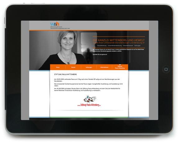 Wittenberg & Hewelt Steuerberatungsgesellschaft, Website, Stiftung Paula Wittenberg