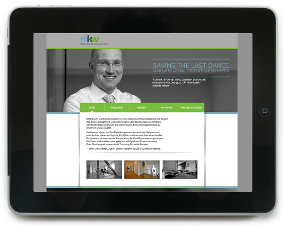 mkw Mediationskanzlei, Website, Webdesign