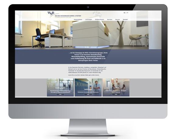WSB-Unternehmensgruppe, Website,Startseite
