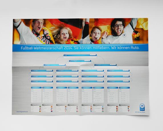 Zentralverband des Deutschen Kraftfahrzeuggewerbes, Spielplan, Poster, Fußball-Weltmeisterschaft