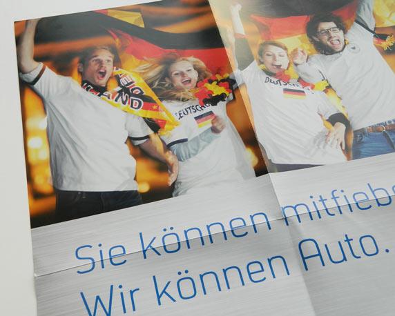 Zentralverband des Deutschen Kraftfahrzeuggewerbes, Poster, Fußball-Weltmeisterschaft, Werbeagentur magenta, Mannheim