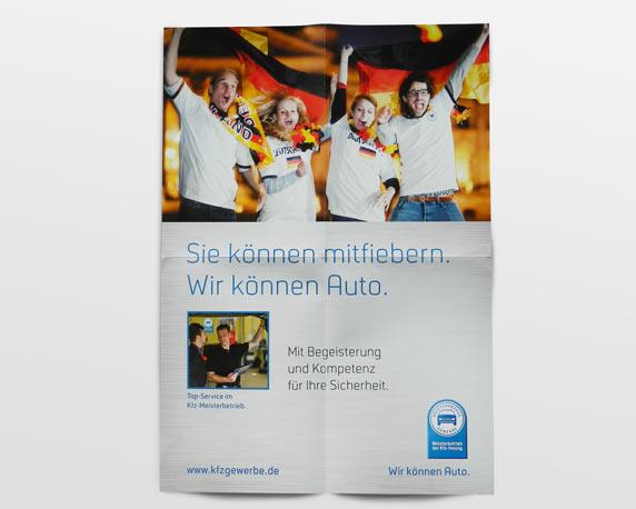 Zentralverband des Deutschen Kraftfahrzeuggewerbes, Poster, Fußball-Weltmeisterschaft