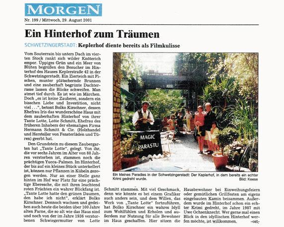Keplerhof, Mannheim, Zeitungsartikel