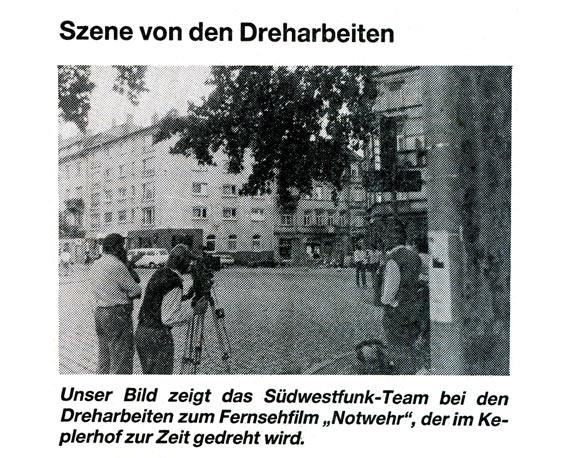 Film, Dreharbeiten, Uwe Ochsenknecht, Keplerhof, Mannheim
