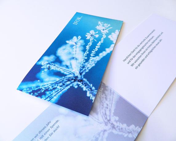 IFOK, Weihnachtskarte, Winter, Werbeagentur magenta, Mannheim