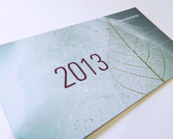 Chemieverbände Rheinland-Pfalz, Weihnachtskarte, Vorderseite