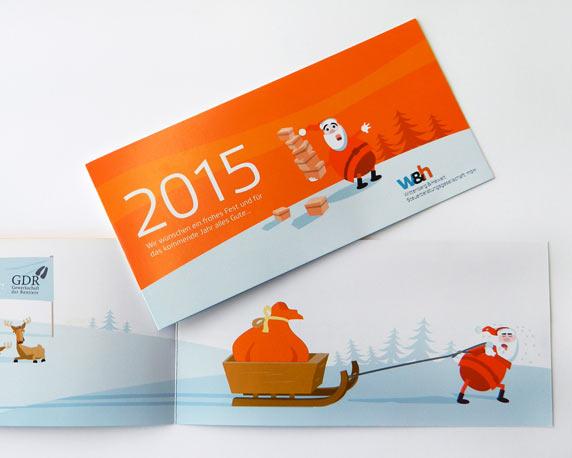 Wittenberg+Hewelt, Weihnachtskarte 2015, Vorderseite, Innenseiten
