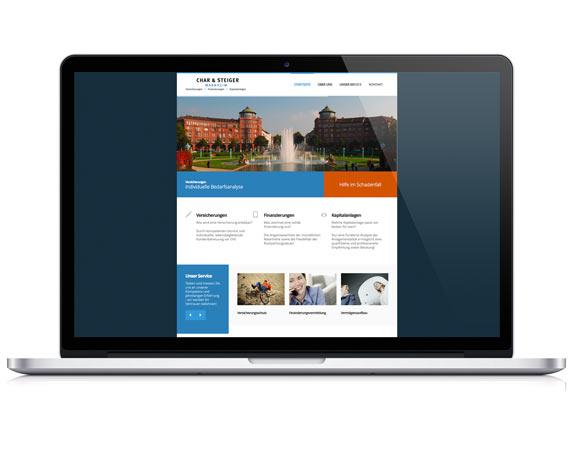 Char & Steiger, Website