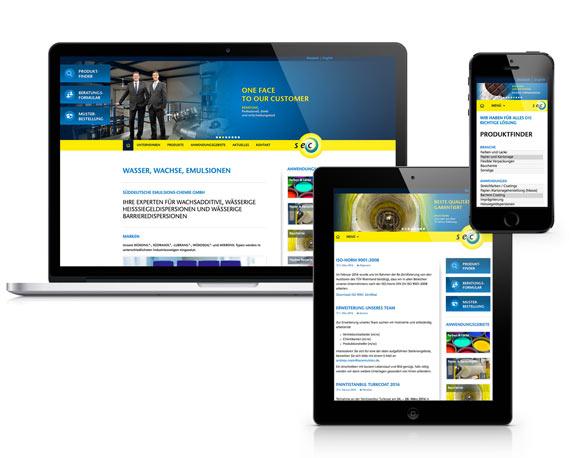 Süddeutschen Emulsions-Chemie GmbH, Website